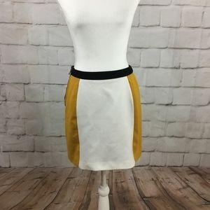 Vivienne Tam Retro Colorblock Mini Skirt